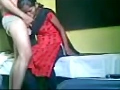 indian maid giving quick blowjob